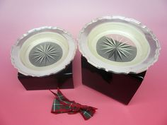 Silver Butter Dishes Sterling PAIR Hallmarked 1932 ART DECO Walker & Hall.