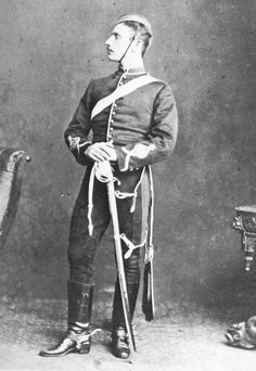 The Prince Imperial of France;Louis Napoleon.  Here he wears the uniform of the British Royal Artillery. He would go on to fight for the British in the Zulu War of 1879where he lost his life.  I don't have a date for this photograph, butit should be 1870's.