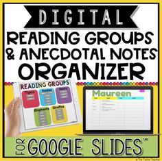 Has your classroom turned into a Chromebook Classroom and you are unsure of how to utilize these devices each day? Come learn about some meaningful ways to integrate these devices into your elementary classroom! Anecdotal Notes, Digital Word, Guided Reading Groups, Math Manipulatives, Reading Specialist, Teaching Technology, Word Study, Vocabulary Words, Google Classroom