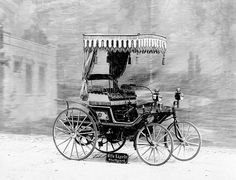 1892: Daimler delivers production car to Sultan of Morocco --- Daimler-Motoren-Gesellschaft delivers to the Sultan of Morocco its first production automobile, an enhanced version of the motorised quadricycle (the wire-wheel car).