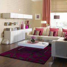Pink living room | Living room furniture | Decorating ideas | housetohome.co.uk