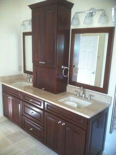 pictures of custom built bathroom vanities Fantine linen the
