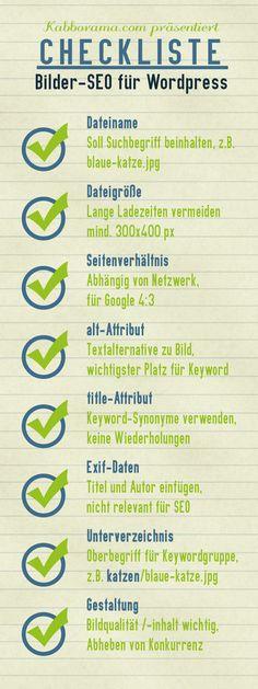 SEO für Bilder Checkliste #social_media