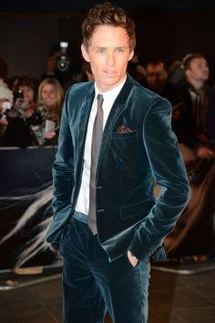 men's deep teal velvet jacket   fashions men s fall fashion eddi redmayn deep teal velvet suit dat ...