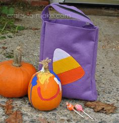 DIY Make Your Own Halloween Treat Bag with applique templates