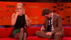J. Law couldn't stop LOLing at Eddie Redmayne