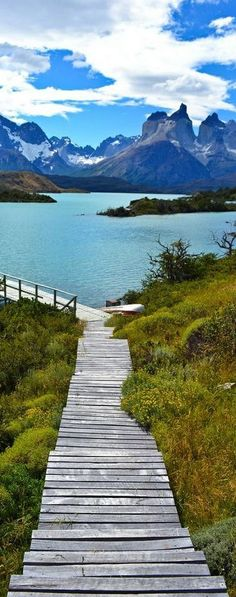 Road less traveled: Torres del Paine National Park in Chile. Places Around The World, Oh The Places You'll Go, Travel Around The World, Places To Travel, Places To Visit, Around The Worlds, Wonderful Places, Beautiful Places, Torres Del Paine National Park