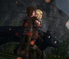 "Hiccstrid Kiss. From ""King of Dragons Part 2"""