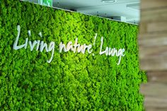 green wall signage - Google Search