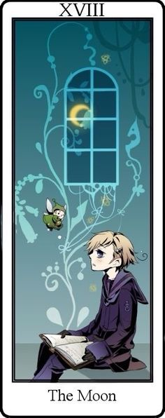 Hetalia Tarot Cards. The Moon Card Norway XVIII>>> no... my little Norway...