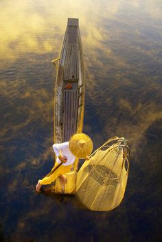 The Fisherman from Inle lake in Shan state of Myanmar | Backpacking in Southeast Asia