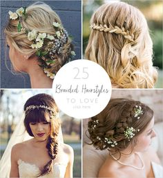 braided hairstyles to love | ideas for wedding hair | bohemian wedding hair looks | #weddingchicks
