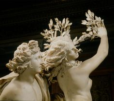 Apollo and Daphne |  Gian Lorenzo Bernini | Daphne turning into a tree.