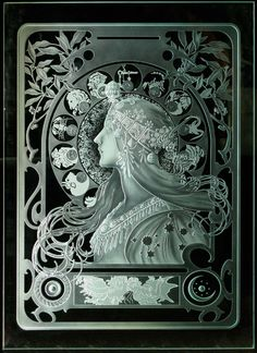 Brandon Flowers - On The Floor Glass Partition Designs, Glass Design, Leaded Glass Windows, Glass Panels, Sandblasted Glass, Etched Glass, Fused Glass, Glass Beads, Azulejos Art Nouveau