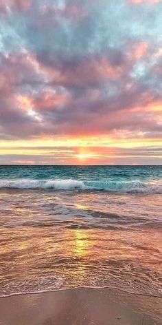 Beach Sunset Wallpaper, Ocean Wallpaper, Cute Wallpaper Backgrounds, Nature Wallpaper, Iphone Wallpaper, Sunset Beach, Wallpapers Tumblr, Pretty Wallpapers, Aesthetic Backgrounds