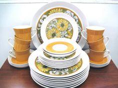 Mikasa Duplex Dinnerwear in Sunflower by Ben Seibel on Etsy, $145.00