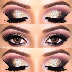 Arabic Makeup Tutorial 2016 – 10 Best Arabian Eye Makeup Looks - Fashions Runway Dramatic Eye Makeup, Simple Eye Makeup, Natural Eye Makeup, Eye Makeup Tips, Cute Makeup, Makeup Eyeshadow, Makeup Looks, Eyeliner Ideas, Indian Eye Makeup