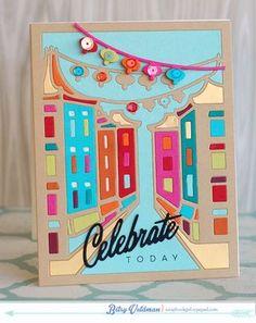 Celebrate Today Card by Betsy Veldman for Papertrey Ink (January 2015)
