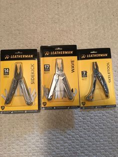 Pocket Multi Tools 75236: Leatherman Wave With Skeletool And Sidekick -> BUY IT NOW ONLY: $115 on eBay!