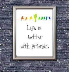 Life is Better with Friends - Digital Art - Instant Download by Analiese on Etsy