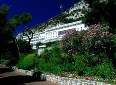 To have a meal at the poolsie restuarant under the wisteria at the Rock Hotel Gibraltar