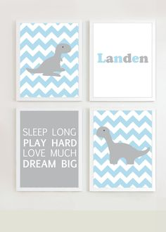 Dinosaur Baby Print Decor - FREE SHIPPING