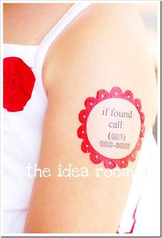 Safe Child Labels - temporary tattoos in case you get separated from your child. This would be great for a theme park or a day at the carnival!