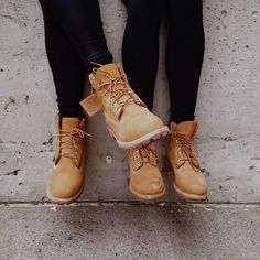 Best friends have a lot in common. #timberland #boots #yellowboots