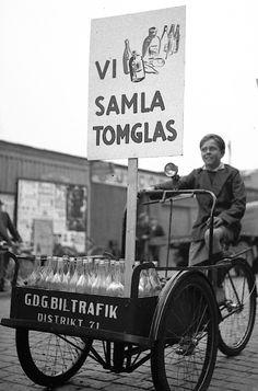 Från Drottninggatan i Gävle under Barnens Dag, september 1943.