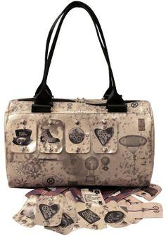 "#bags #borse #handmade #artigianali #pvc #travel #trip #viaggiare #carryall #totebag #interchangeable #clip #tear-off Bauletto ""Viaggio"""