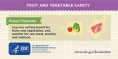 """CDC on Twitter: """"Keep fruits and veggies away from raw meat. Separate, don't contaminate! https://t.co/BncEKilCaW #FoodSafety #NationalFreshFruitandVegetableMonth… https://t.co/aycG0qq2Za"""""""