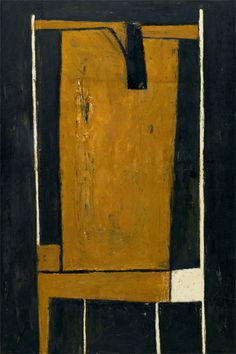 William Scott, Yellow and Black Composition, 1953 Abstract Shapes, Abstract Art, Abstract Paintings, Red Words, American Artists, British Artists, Painting Still Life, Abstract Expressionism Art, Acrylic Colors