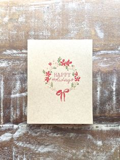 Holiday Wreath Greeting Card - Set of 6