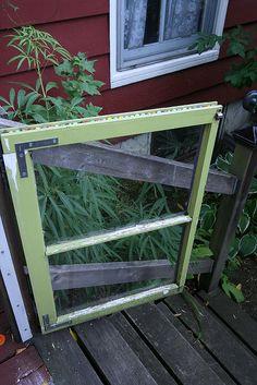 Recycled window garden gate