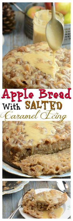 Instant Pot Pressure Cooker Apple Bread with Salted Caramel Icing. Instant Pot desserts are so easy and delicious!