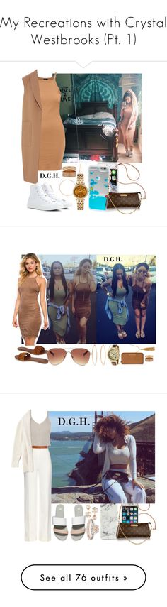 """""""My Recreations with Crystal Westbrooks (Pt. 1)"""" by dopegenhope ❤ liked on Polyvore featuring Nordstrom, Skinnydip, Converse, Michael Kors, Repossi, Alexander Wang, westbrooks, CrystalWestbrooks, cawestbrooks and thewestbrooks"""