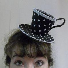a tea cup hat
