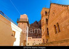Fatimid mosque and orthodox church inside St. Catherine's monastery, Sinai, Egypt. Stock Photo