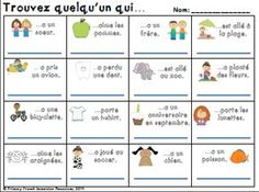 Primary French Immersion Resources: Back to school activities - Jamie Leigh - French Teacher, Teaching French, Spanish Teaching Resources, French Resources, Primary Resources, French Flashcards, First Day Of School Activities, Class Activities, French Education