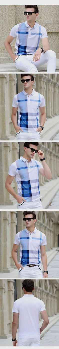 2016 Summer Men Polo Shirts Plaid Patchwork Short Sleeve Cool Mercerized Cotton Slim Fit Casual Business Men Shirts Luxury Brand   http://www.dealofthedaytips.com/products/2016-summer-men-polo-shirts-plaid-patchwork-short-sleeve-cool-mercerized-cotton-slim-fit-casual-business-men-shirts-luxury-brand/