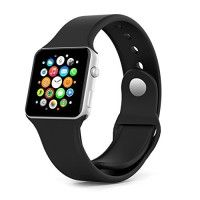 Dveda Apple watch band - 42mm Soft Silicone sports Wrist Band with Stainless Lugs for Apple Watch Sport Edition 42mm,Black   Compatibility: Perfect fit your precious Apple Watch 42mm 2015 Version (Will not fit for 38mm Edition) Product Description: 1.Apple Watch band Read  more http://themarketplacespot.com/wearable-technology/dveda-apple-watch-band-42mm-soft-silicone-sports-wrist-band-with-stainless-lugs-for-apple-watch-sport-edition-42mmblack/