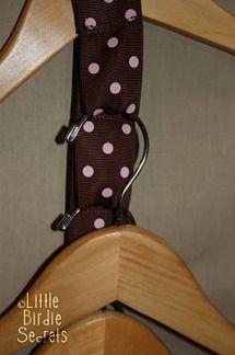 DIY clothes hanger space saver...