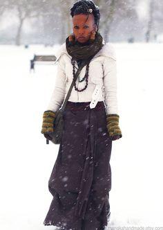 OOAK Bohemian ruched draped skirt by manakahandmade on Etsy, £42.00