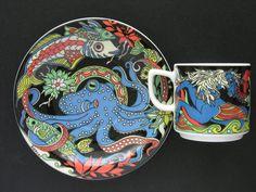 Bopla Demi Cup Saucer Neptun Octopus Series Fantasia | eBay