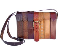 handbag made from discarded leather belts, by ting london #handbag #leather #diy #vintage #upcycle #ting #tinglondon