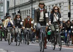 Beep beep! Traffic in London was diverted for a very different reason today - to let the tweed through!