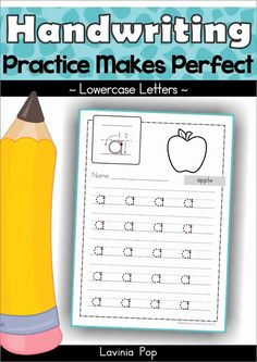 Kindergarten writing - Handwriting Practice Makes Perfect sheets Kindergarten Handwriting, Handwriting Sheets, Free Handwriting, Kindergarten Freebies, Improve Your Handwriting, Kindergarten Writing, Preschool Learning, Writing Activities, Preschool Activities