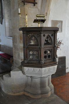 https://flic.kr/p/awCA72 | Kelmscott St George Victorian pulpit http://www.bwthornton.co.uk/visiting-stratford-upon-avon.php