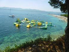 Zlatni Rat- the place with the most beautiful, golden, sandy beach and with the weird playground, not exactly for children...The question is: How to persevere until the end? It's impossible! :)