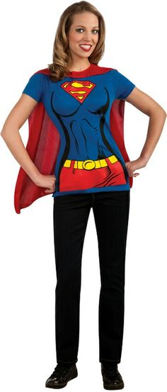 Supergirl Shirt Costume - Adult Costume  Product #: WC1880474